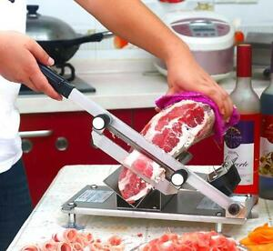 St 200b Manual Stainless Steel Frozen Meat Slicer Beef Slicing Machine T