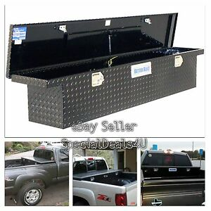 Truck Bed Tool Box Storage Low Profile Full Size Slimline Car Carriage Black New