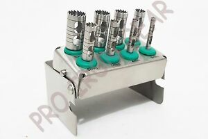 Dental Trephine Drills Kit 8pcs Implant Surgical Surgery With Bur Holder