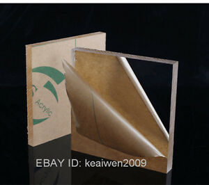 2pcs 300x300x6mm Clear Acrylic Plexiglass Sheet Plastic Panel Perspex Pmma Plate
