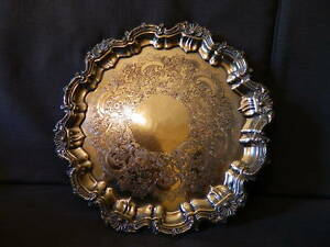 Important Cake Dish Old Sheffield Plate E P C