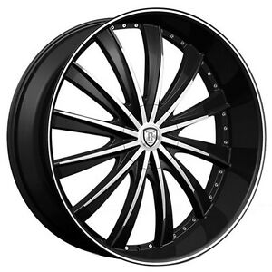 26 Borghini Wheels B19 Black Machined Rims