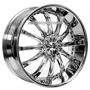 26 Dcenti Wheels Dw8 Chrome Rims