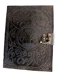 Handmadecraft Large Tree Of Life Leather Journal Diary Notebook For Writing L