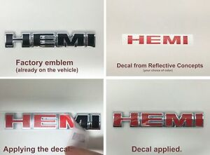 Hemi Badge Overlay Decals For 2006 2010 Dodge Charger