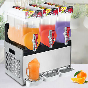 3tank 45l Frozen Drink Slush Making Machine Smoothie Maker 110v Sale