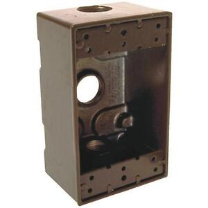 Bronze Single gang Weatherproof Outdoor Outlet Box Pack Of 6