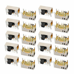 20pcs 3 Position 8p 2p3t Panel Mount Micro Slide Switch Latching Toy Switch