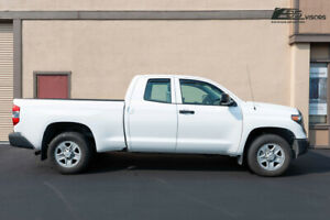 For 07 up Toyota Tundra Extended Crew Cab Smoke Tinted Side Vents Rain Guards