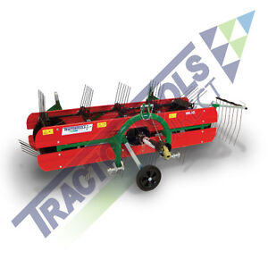 Ts96 Compact Belt Hay Rake tedder By Molon For Compact Tractors