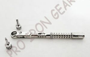 Dental Implant Torque Wrench Ratchet 10 40 Ncm Hex 1 5mm And 2 5mm With Driver
