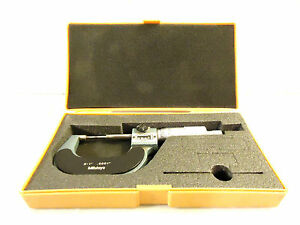 Mitutoyo 0 1 Outside Micrometer Mechanical Digital Readout 0001 Increments
