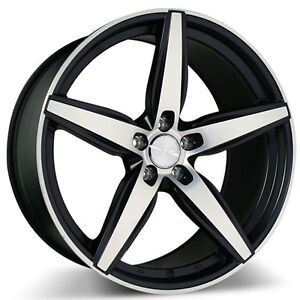 4rims 20 Staggered Ace Alloy Wheels Couture Bm With Machined Rims