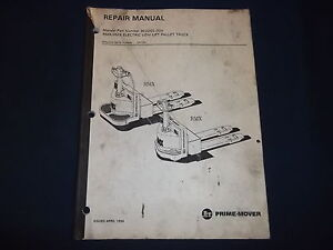 Bt Prime Mover Hmx Rmx Pallet Forklift Truck Service Shop Repair Manual Book