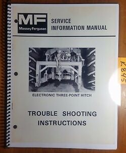 Massey Ferguson Electronic Three point Hitch Trouble Shooting Service Manual 79