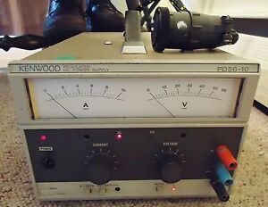Kenwood Regulated Dc Power Supply Model Pd56 10 Ac 120 50 60 Hz Made In Japan