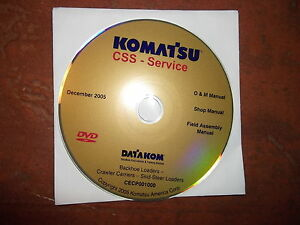 Komatsu Skid Steer Loader Backhoe Service Shop Repair Manual Cd