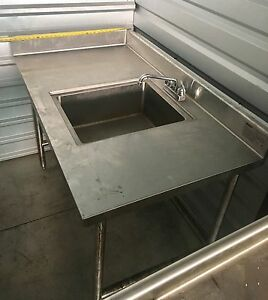 Eagle Group Commercial Sink With Double Drain Boards Soiled Dish Station
