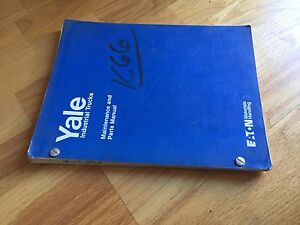 Yale K66c 66 Electric Forklift Parts Catalog Maintenance Manual Truck