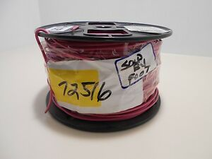 Southwire 14 Gauge Solid Copper 600 Volt Insulated Wire Red Thhn thwn awmred