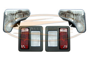Bobcat T450 T550 T590 Headlight Tail Light Kit With Bulbs Lens Lamp Skid Steer