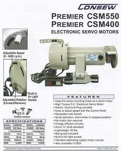 Csm550 Variable Speed Servo Motor For Sewing Machines