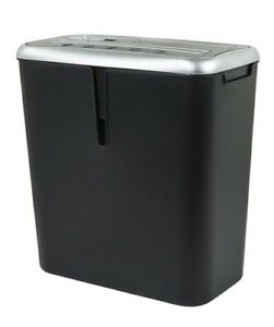 8 Sheet Cross Cut Shredder For Paper Cd Dvd And Credit Card With Bin Black