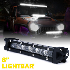 Xprite C6 30w Ultra Thin Single Row Led Flood Work Light Bar Off road 8 Inch