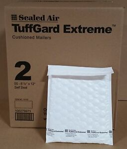 50 2 8 1 2 X 12 Jiffy Tuffgard Extreme Poly Bubble Mailers Extra Thick
