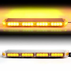 Amber 22 Led Emergency Warning Hazard Security Strobe Light Bar Off Road Sig