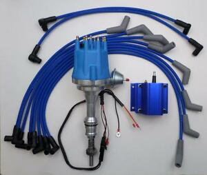 Small Cap Ford 5 0l 302 Efi To Carb Conv Hei Distributor 50k Coil Plug Wires