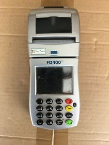 First Data Fd400ti Terminal Unlocked Credit Card Machine With Power Supply