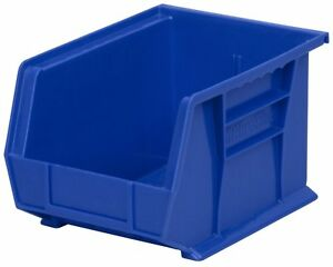 Pack Of 3 Akro mils 30239 Plastic Storage Stacking Hanging Bin 11x8x7in Blue