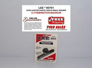 90791 * LEE CASE LENGTH GAUGE & #5 SHELL HOLDER * 6.5 REMINGTON MAG * NEW!