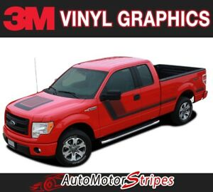 2009 2019 Ford F 150 Truck Quake Hood Sides Digital Print Stripe Decal Graphic