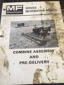 Massey Ferguson Service Manual Combine Assembly And Pre Delivery 540 550 850 860