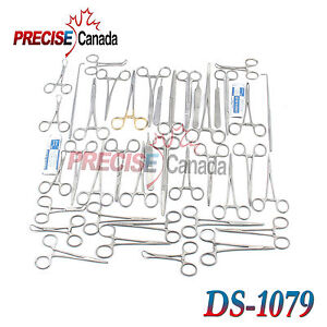 91 Pcs Canine feline Spay Pack Veterinary Surgical Instruments Ds 1079