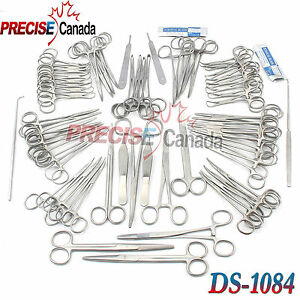 126 Pcs Canine feline Spay Pack Veterinary Surgical Instruments Ds 1084
