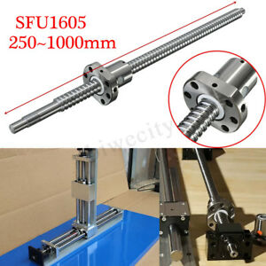 C7 sfu1605 Ball Screw L250 400 500 650 1000mm Ballnut W Single Ballnut For Cnc