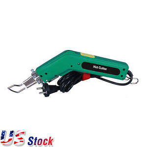 Usa Stock 110v Handheld Hot Heating Knife Cutter Tool For Fabric Rope Cutter