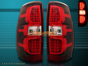 07 13 Chevy Avalanche Truck Led Tail Lights Ls Lt1 Lt2 Lt3 Lts L E D Red Clear