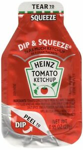 Heinz Tomato Ketchup 0 95 ounce Single Serve Packages pack Of 100 3x M