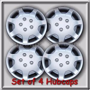 Set Of 4 14 Silver Toyota Camry Hubcaps 1992 1993 Replica Camry Wheel Covers