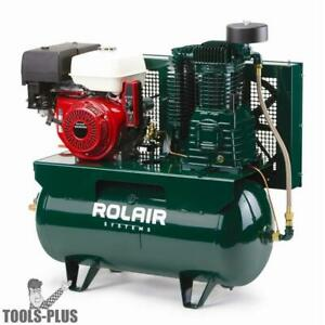 Rolair 13gr30hk30 13 Hp Electric start Honda 30 Gal Truck mount Compressor New