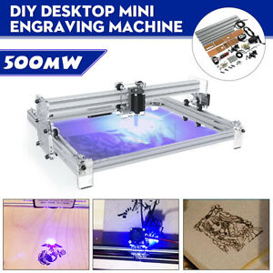 40 50cm Area 500mw Mini Laser Engraving Cutting Machine Printer Kit Desktop New