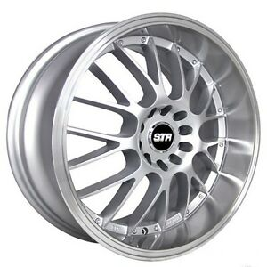 4rims 17 Str Wheels 514 Silver With Machined Lip Rims