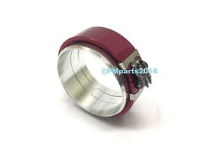 Red Aluminum Tube Pipe Connector Clamshell Pegasus 3 3 0 Flange Clamp 3 Inch