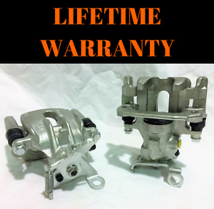 Pair 2 Brand New Rear Brake Calipers For 2000 2007 Ford Focus W mounting Bracket