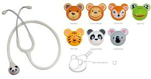 Animal Stethoscope White With 7 Kinds Of Animal Chest Piece Part For Pediatrics