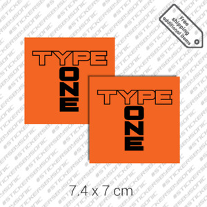 2x Type One Bamper Sticker Vinyl Decal Set Honda Civic Integra Dc2 Ek9 Jdm Spoon